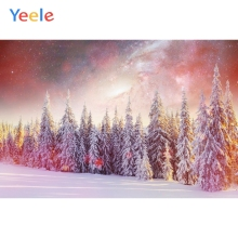 Yeele Winter Landscape Fallen Snow Pine Forest Photography Backdrops Personalized Photographic Backgrounds For Photo Studio kate winter backdrops photography ice snow tree scenery photo shoot white forest world backdrops for photo studio