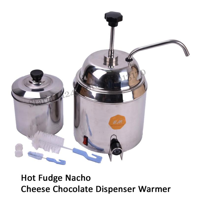 Hot Fudge Warmer <font><b>Nacho</b></font> Cheese Chocolate Dispenser Melter Bain Marie 220V 110V Brand New