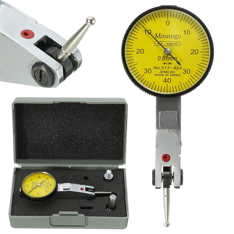 Accurate Dial Gauge Test Indicator Precision Metric with Dovetail Rails Mount 0-40-0 0.01mm Mayitr Measuring Instrument Tool