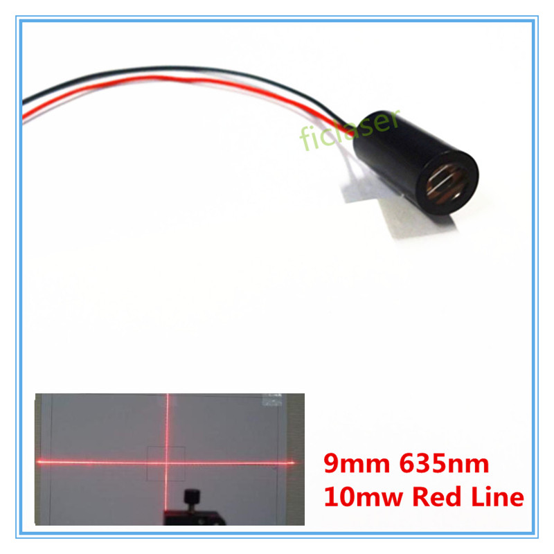 9mm 635nm 10mW  Red  Cross Line Laser Module Industrial Grade APC Driver TYLASERS