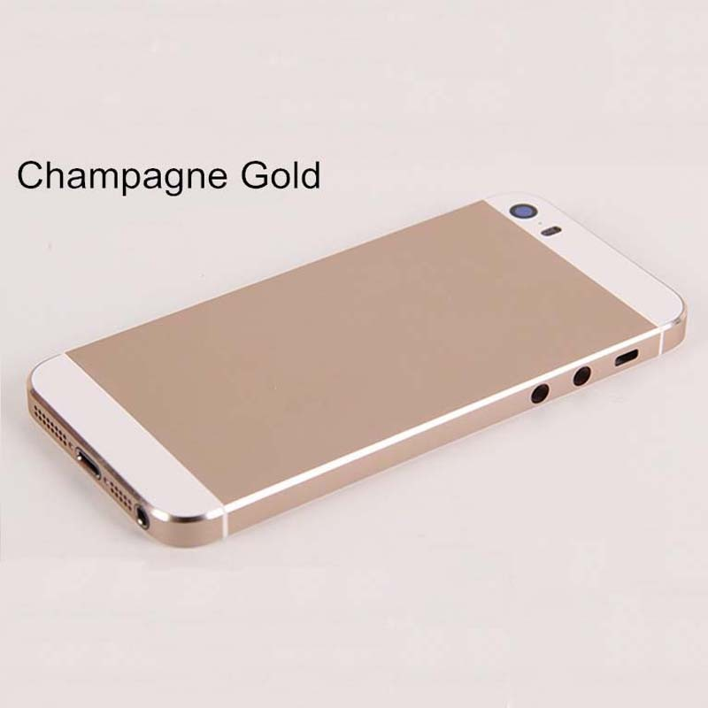 ebc1eecb3eb ... For iPhone 5s Full Complete Housing Back Cover Battery Door Cover Middle  Frame Assembly Gold ...