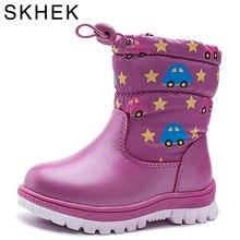 SKHEK D'hiver Enfants Bottes Chaud en peluche De couleur de Sucrerie Enfants Imperméables formateurs Neige Bottes Enfants chaussures Garçons Filles Chaussures De Mode