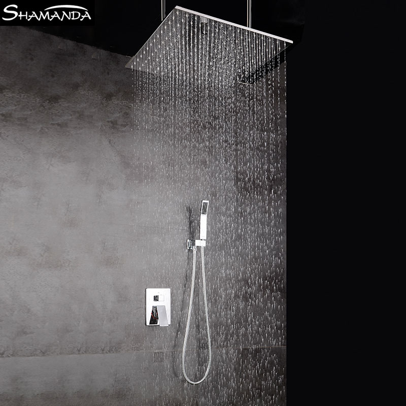 Bathroom Faucet Various Styles Shower Head Two Functions Embedded Box In  Wall Mounted Mixer Valve Ceiling Rainfall Shower Set In Shower Faucets From  Home ...