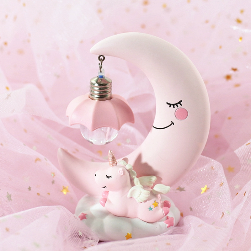 HTB15prbX5jrK1RjSsplq6xHmVXaY LED Night Light Unicorn Moon Resin Cartoon Night Lamp Luminaria Romantic Bedroom Decor Night Lamp Baby Kids Birthday Xmas Gift