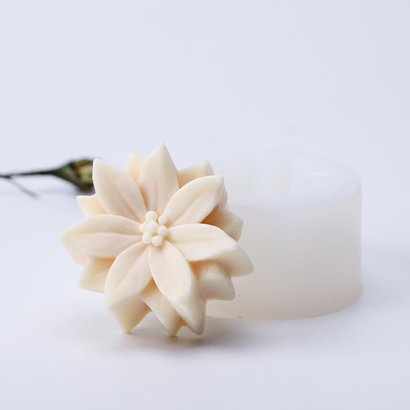 Flower Soap Mold Silicone Candle Mould Silicon Soap Mold DIY Plaster Resin Mould