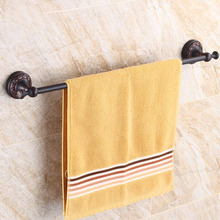 Oil Rubbed Black Bronze Wall Mounted Single Towel Bar Towel Rack Towel Holder Bathroom Accessories KD940