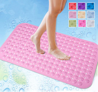 Mooie dot antislip bad tapete banheiro badkamer douche pad PVC hoge sucker voetmassage mat Groen/blauw/oranje 70x38 cm