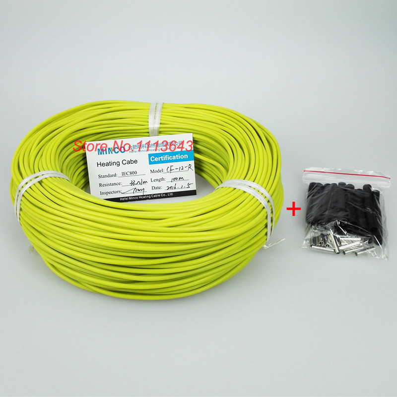 New infrared heating cable system of 3mm Silicone carbon fiber heating wire electric hotline for floor heating ethernet cable