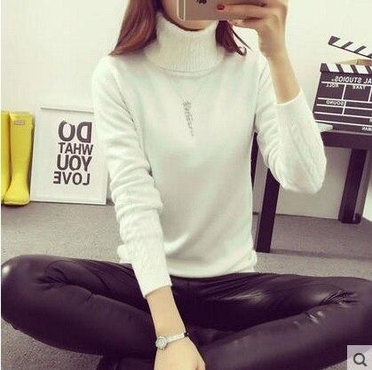 Модный бренд Женщины С Длинным Рукавом водолазки Кашемировые свитера И Пуловеры женский негабаритных тянуть Femme зимой белый свитер