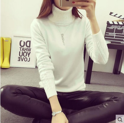 Fashion Women Long Sleeve turtleneck Cashmere sweaters And Pullovers  female lover oversized pull Femme winter white sweaters
