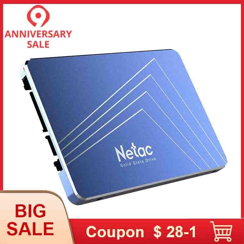 Netac disque dur SSD 960 GB SATA3 N500S 960 GB SATA6Gb/s 2.5in Lecteur à État Solide SSD 3D TLC Nand Flash disque dur Ordinateur Portable