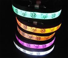 50pcs/lot Cartoon Pattern LED Dog Collar Flashing dogs Collar decoration