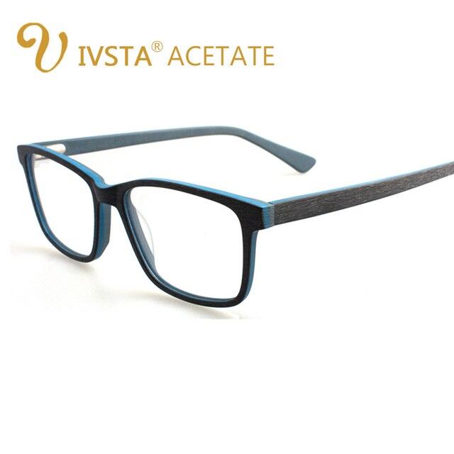 ivsta handmade wooden frame glasses men eyeglasses frames vintage retro acetate eyewear rose pink womens spectacles optica wood - Wood Frames Glasses