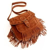 Original Exclusive Design Tassel Bag Autumn New Bohemian Shoulder Bag Retro Hollow Messenger Bag Female