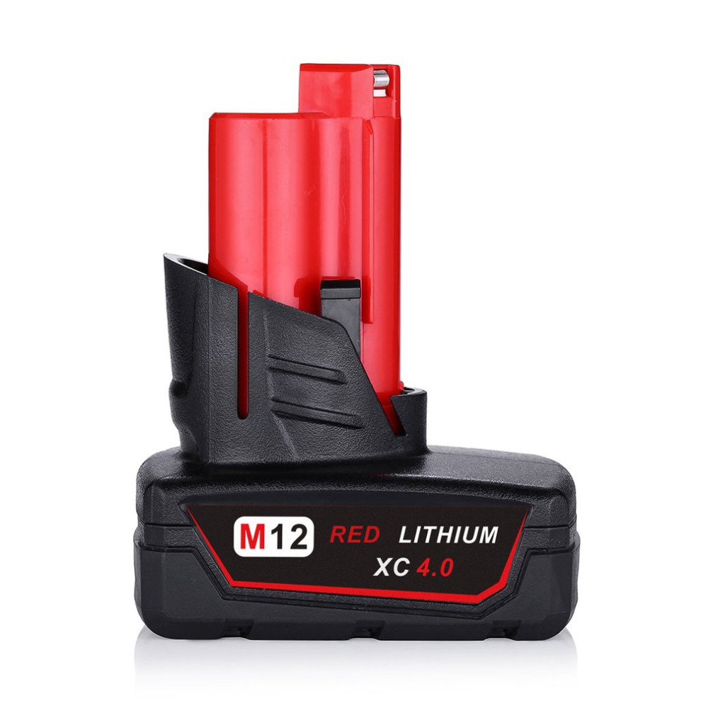 4000mAh 12V Power Tool Rechargeable Lithium Ion Battery Replacement Battery Backup 4.0Ah for Milwaukee M12 5pcs lithium ion 3000mah replacement rechargeable power tool battery for bosch 36v 2 607 336 003 bat810 bat836 bat840 36 volt