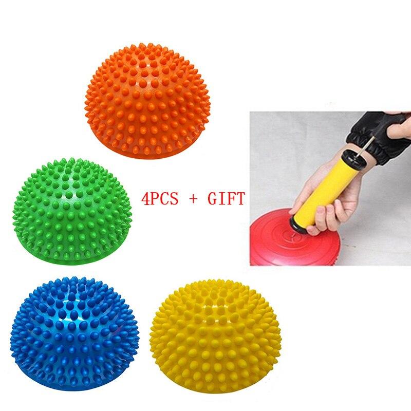 4PCS Kids Durian Spiky Massage Ball Hemispheres Stepping Stone Children Kindergarten Tactile Rehab Sensory Balance Training Toys