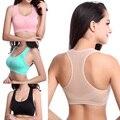 Nueva Aptitud de Las Mujeres Stretch Workout Tank Top Racerback Bras Sujetador Push Up