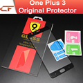 Oneplus 3 vidrio templado film protector de pantalla de alta calidad premium 9 h para uno más tres teléfono móvil + envío libre