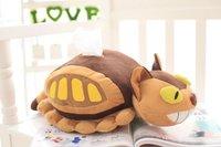 Brinquedo de pelúcia 1 pc 50 cm dos desenhos animados engraçado ônibus totoro Hayao miyazaki caixa de tecido caixa de toalha de papel da boneca de pelúcia brinquedo de presente