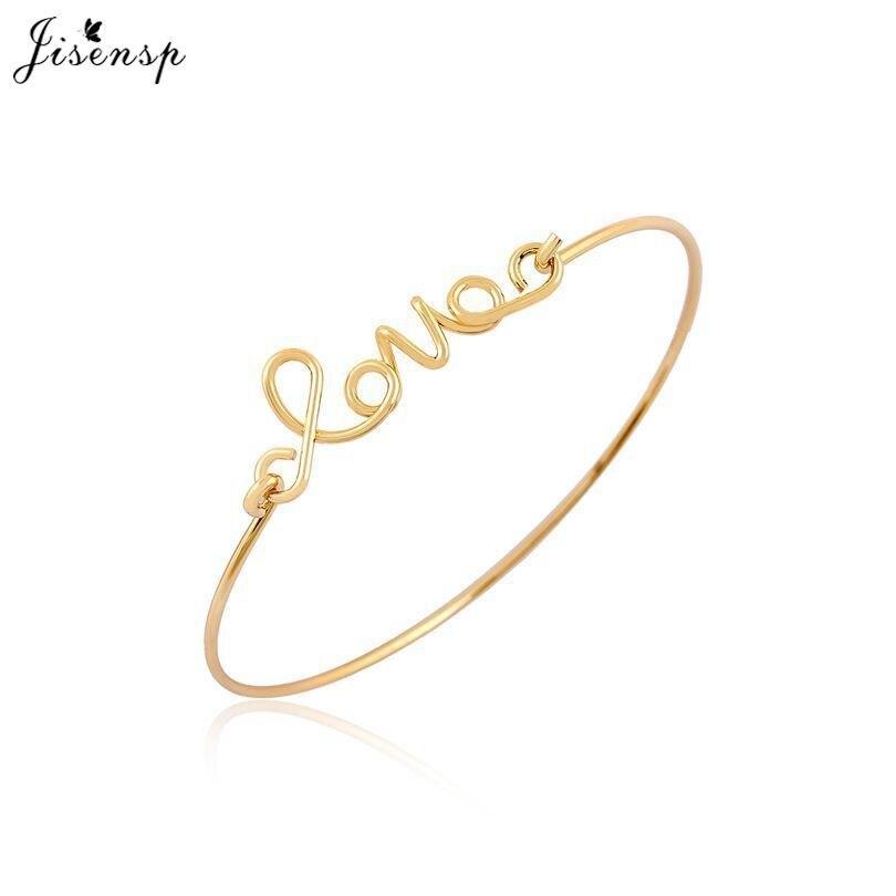 Jisensp Personalised Gifts Love Bangles for Lovers'