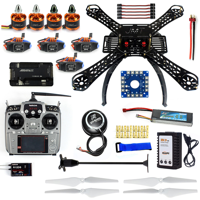 Full Set DIY RC Drone X4M380L 380mm Frame Kit with APM2.8 Flight Control GPS AT10 TX Transimitter for DIY Quadrocopter diy rc drone quadrocopter x4m380l frame kit apm 2 8 flight control gps brushless motor quadcopter f14893 k