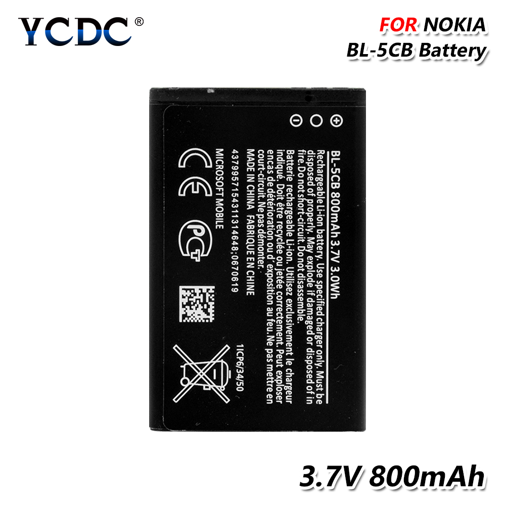 BL-5CB 3.7V 800mAh Battery For Nokia 3108 2135 6086 6108 6230 6820 7610 N72 N91 <font><b>100</b></font> 101 103 105 109 111 113 1000 1282 C1-01 image