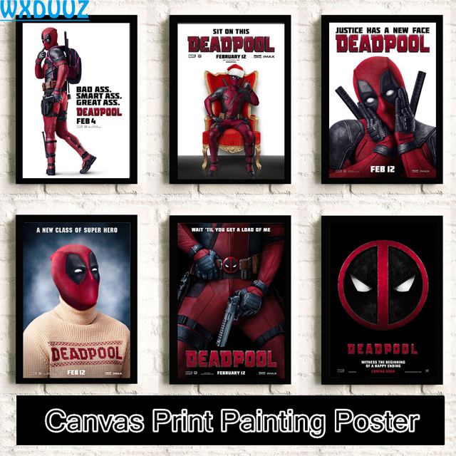 Deadpool Movie Reying quality HD Painting Home Decor Art Decor living room posters Home Decor canvas painting No Frame K12