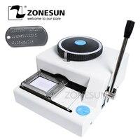 Zonesun ручное оборудование алюминий 52 символ собака бирка Настольный стальной штамповочный пресс печать гравировка тиснение машина
