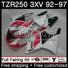 TZR-250 For YAMAHA TZR 250 1992 1993 1994 1995 1996 1997 6HC.6 TZR250RR RS YPVS 3XV TZR250 Red white 92 93 94 95 96 97 Fairing(China)