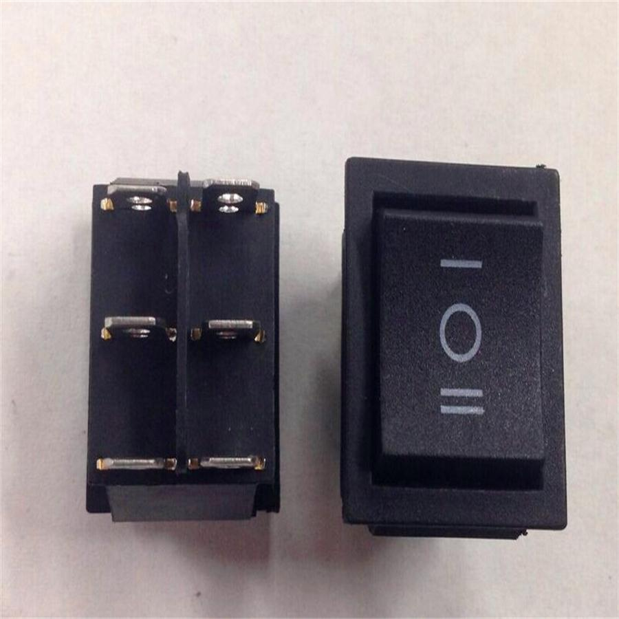 Toggle rocker switch black 16A rectangle boat switch,200pcslot