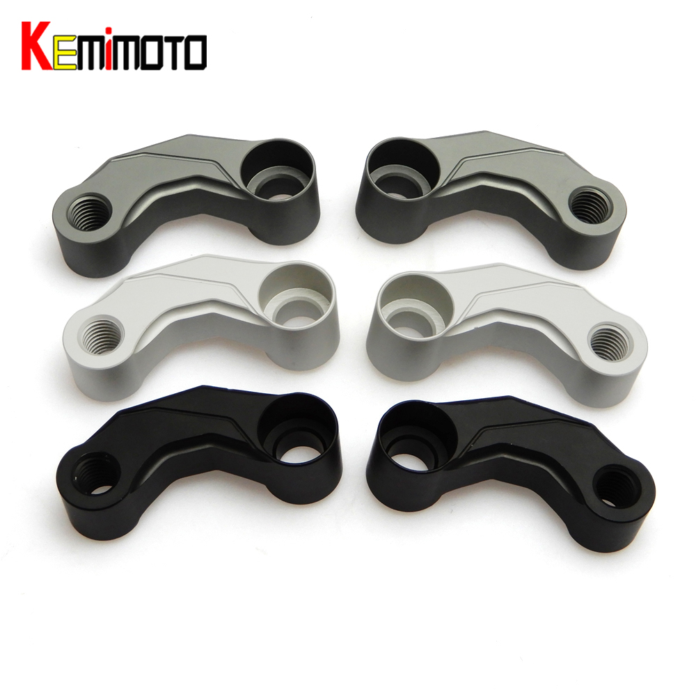 For BMW R1200GS LC/ R1200 GS LC Adventure 2013 2014 2015 2016 Mirrors Riser Extension Brackets Adapter Motorcycle parts for bmw r1200gs lc 13 17 r1200gs lc adventure 14 17 motorcycle handlebar riser handle bar clamp extend adapter