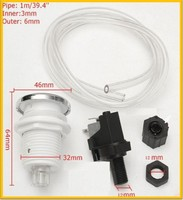 Bathtub Complete Air Switch Kit Button Micro Switch 1m Pipe