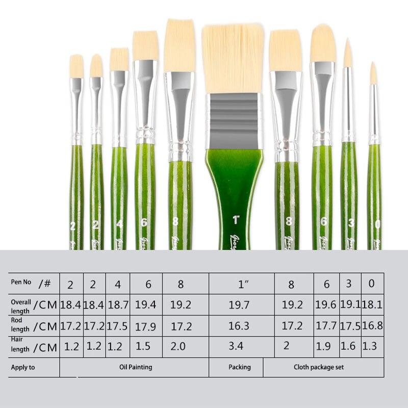 escovas de pintura a óleo da aguarela