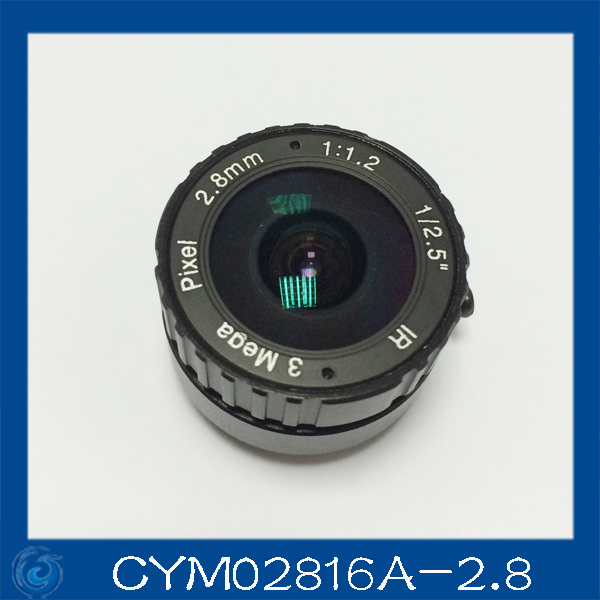 3MP. cctv camera lens 2.8mm Fixed Iris lens, 1/2.5
