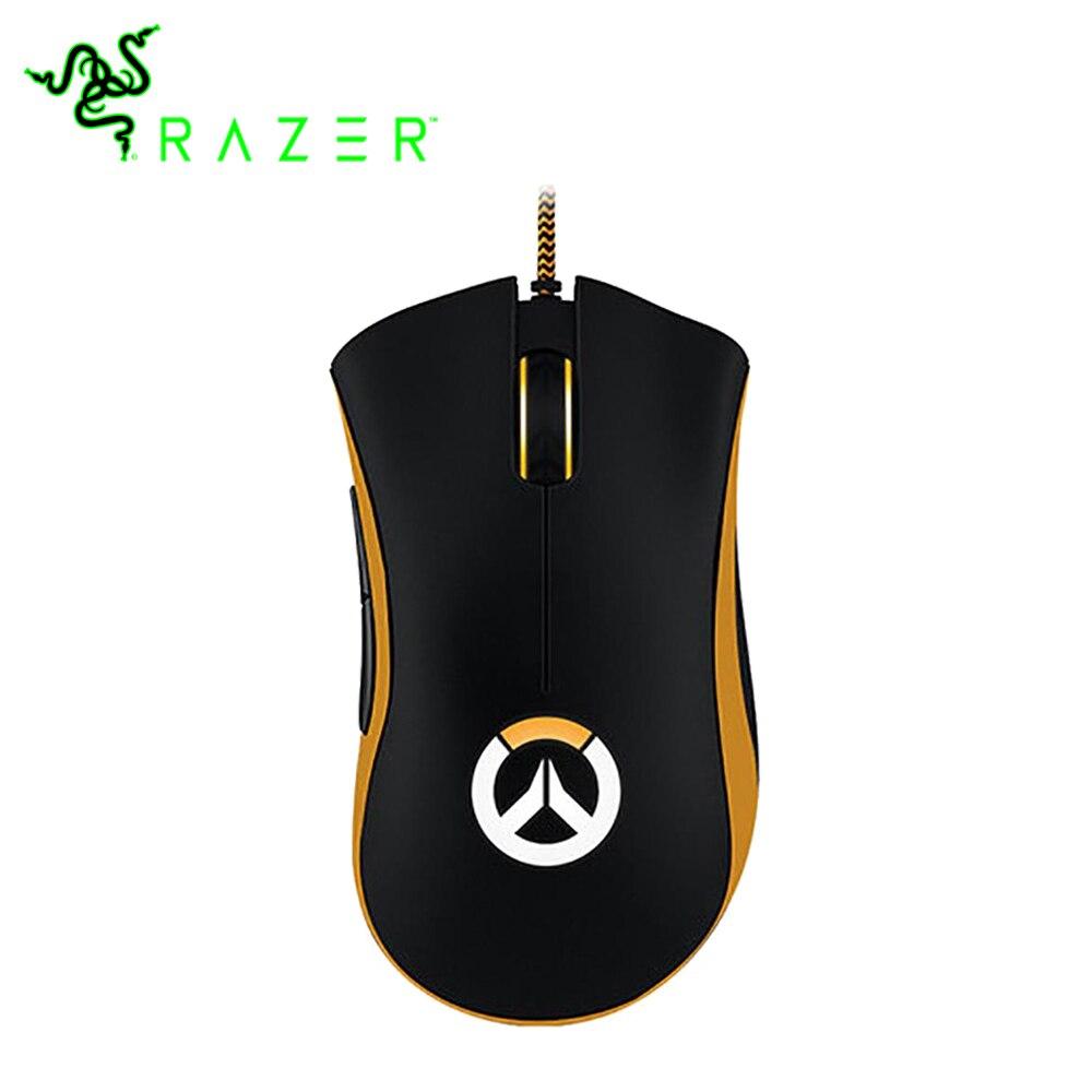 Razer deathadder chroma overwatch edição wired gaming mouse ergonômico chroma iluminação otimizada 300 ips esports 10000 dpi mouse