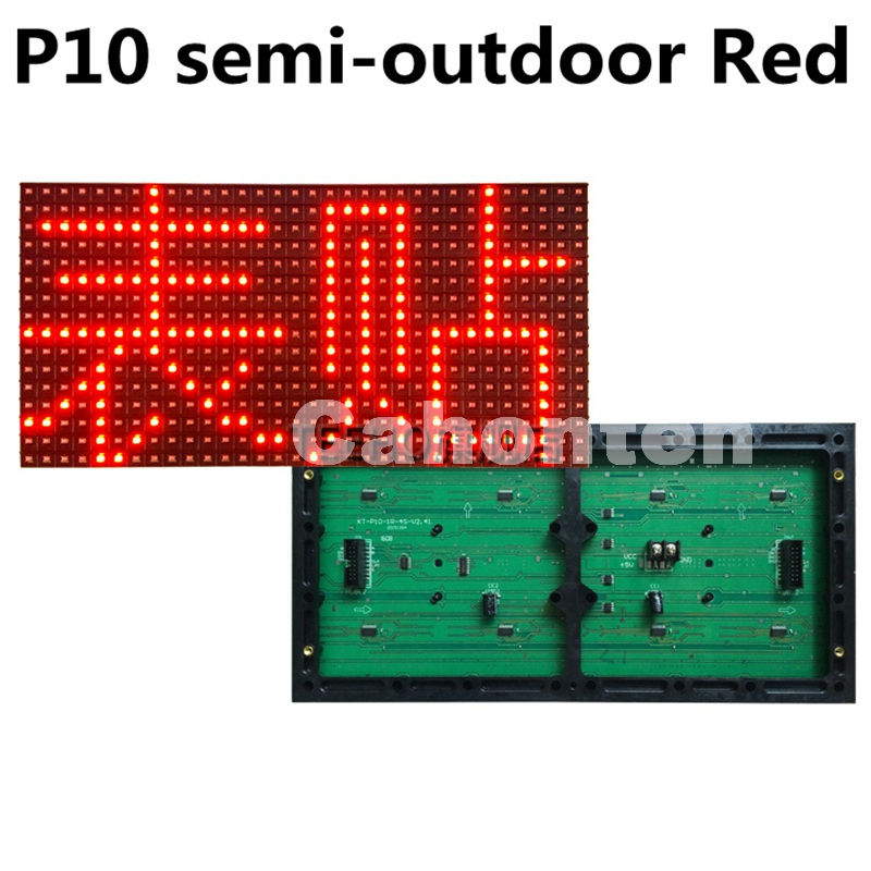 SMD P10 Red semi-outdoor display module 32*16 pixel 320*160mm High brightness single color for text moving led sign p7 outdoor dip full color led panel display module high resolution high brightness high refresh high quality