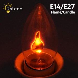 Image 1 - E14 E27 Retro LED Edison Light Bulb LED Flame Effect Fire Light Flickering Flame Lamp Simulated Party Christmas Decor AC220 240V
