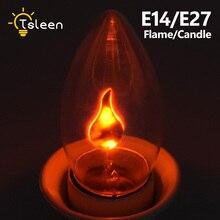 Lumière de flamme vacillante rétro E14 E27 LED Edison ampoule LED LED effets de flamme, décoration de fête de noël, AC220 240V