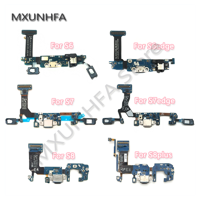 USB Charger Charging Dock Port Connector Flex Cable For Samsung Galaxy S6 S7 Edge S8 S9 Plus G920F G925F G930F G935F G950F G955F(China)