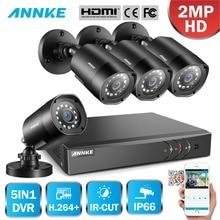 ANNKE 1080 P 5in1 8CH Lite H.264 + DVR 1080 P HD TVI смарт-ir Bullet Водонепроницаемая камера видеонаблюдения Камера Системы