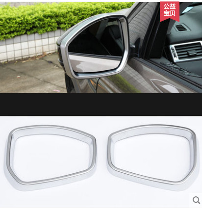 For Jaguar xe xf 2015 2016 Car Styling ABS Matte Chrome Rearview Mirror Frame Cover Trim Sticker Accessories in Car Stickers from Automobiles Motorcycles