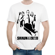 Shaun of the Dead T Shirt White Color Mens Fashion Short Sleeve Simon Pegg T-shirt Tops Tees tshirt