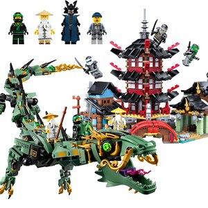 Image 2 - 2019 חדש creative ninjaly מקדש הדרקון פעולה תואם עם Legoings בניין צעצוע ninja עירוני בריק צעצוע לילדים מתנה