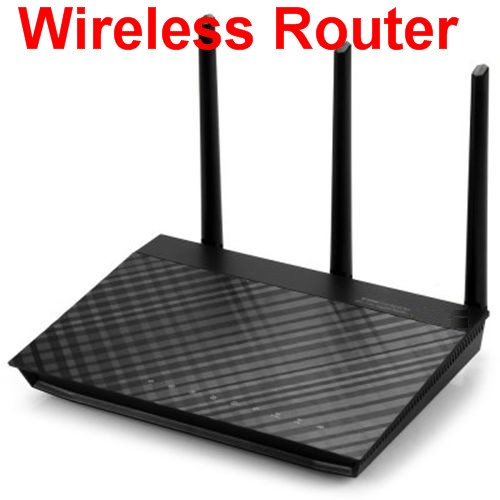 100% working for RT-AC66U Network WiFi Repeater with 3 Antenna - BLACK