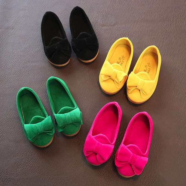 子供靴大きな弓群れキャンディー色の女の子靴スリップオン女の子サンダルシングルカジュアル女の赤ちゃんの靴プリンセスフラットシューズ