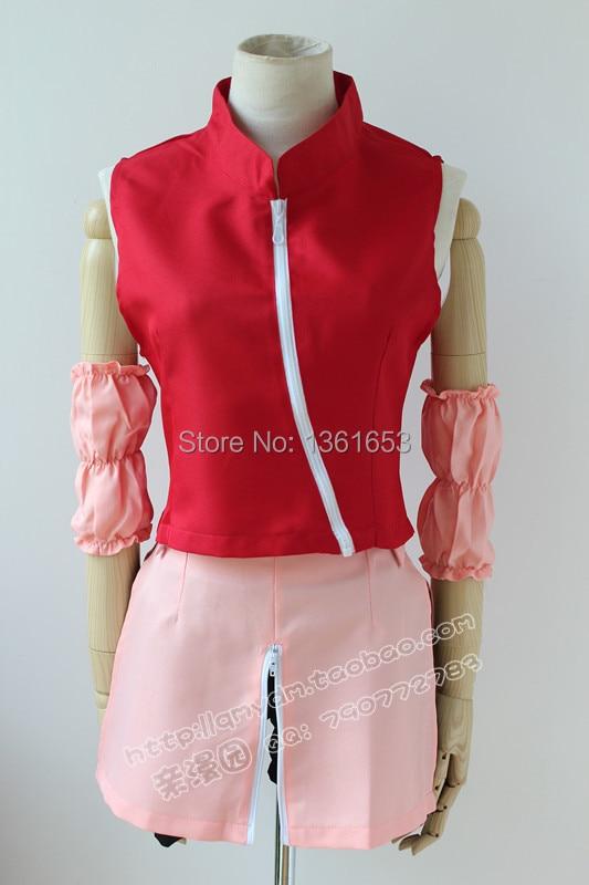 Naruto Cosplay anime sakura haruno naruto Cosplay 2rd pink dress Halloween party cosplay costume for women dresses clothes