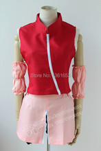 Naruto cosplay anime naruto sakura haruno cosplay 2rd pink dress vestidos de ropa de fiesta de halloween cosplay para las mujeres