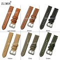ZLIMSN Mens Watchbands For Panerai Genuine Leather Thick Lady Watch Band Strap Belt Steel Pin Buckle 20 22 24 26mm