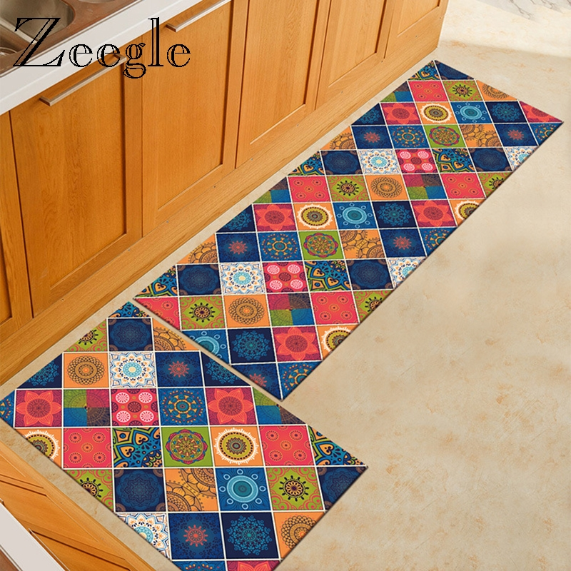 Zeegle Kitchen Carpet for Home Decor Door Mat Non-slip Floor Mat Kid Bedroom Carpets Table Bedside Mat Chair Mat Kitchen Rug