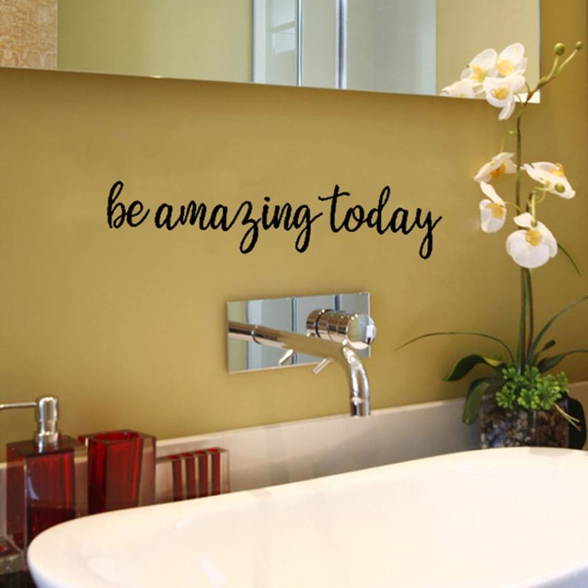 Be Amazing Today Decorative Painting Bedroom Livingroom TV Wall Decoration Wall Stickers Mural Kids Room Kindergarten Decor